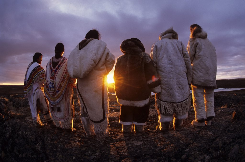 Stock Photo: 4292-111067 Canada, Baker Lake, Nanuvut, inuit group