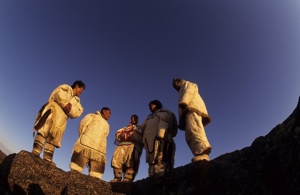 Stock Photo: 4292-111068 Canada, Baker Lake, Nanuvut, inuit group