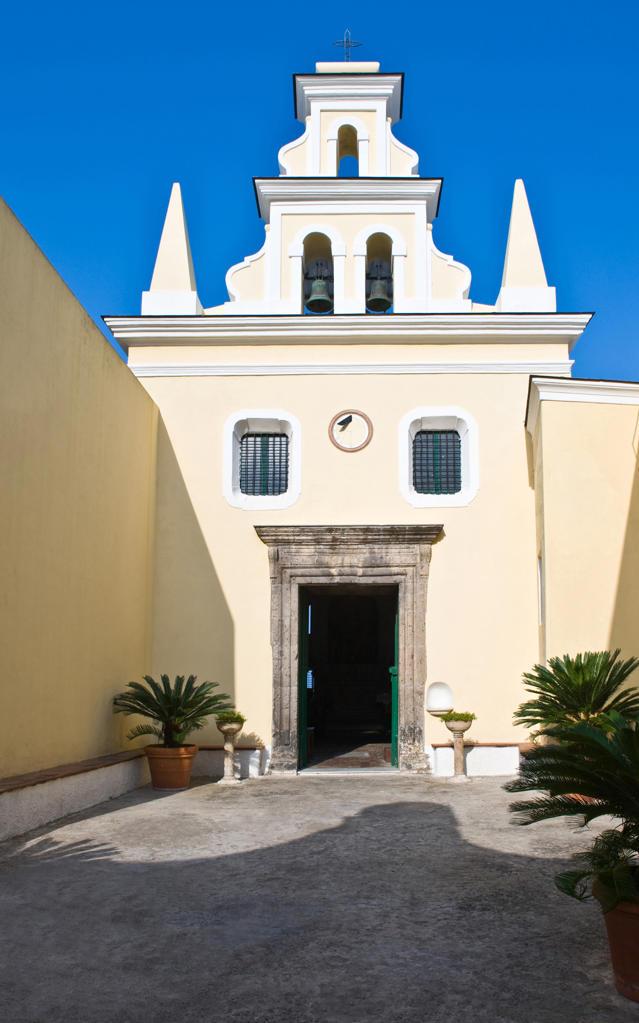 Campania, Ischia. Forio. Church Santa Maria di Visitapoveri : Stock Photo