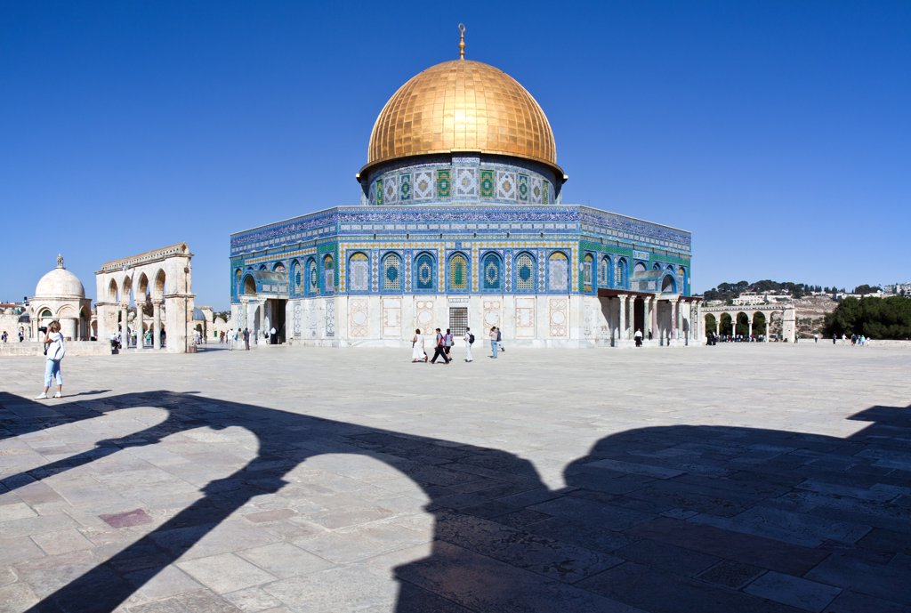 Stock Photo: 4292-114373 Israel, Jerusalem, the Dome of the Rock mosque
