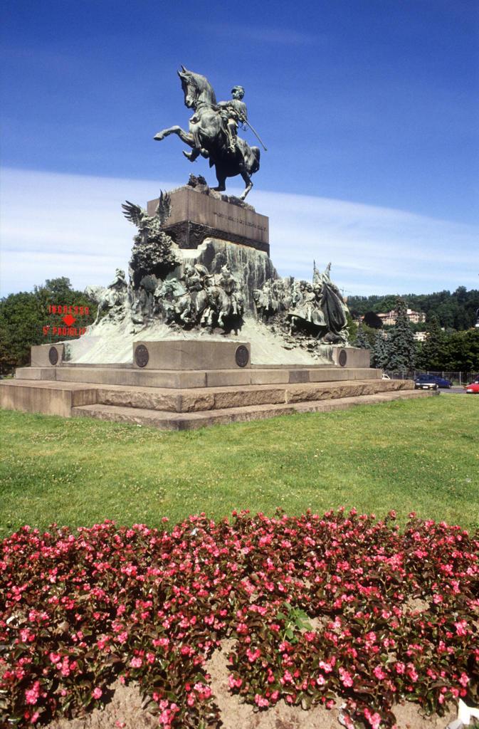 Italy, Piedmont, Turin, Amedeo di Savoia Monument. : Stock Photo