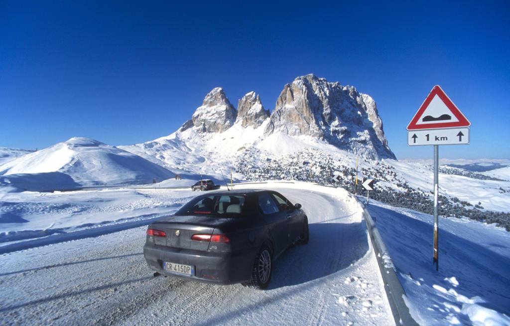 Stock Photo: 4292-117493 Italy, Trentino Alto Adige, Dolomites, Passo Sella, Sasso Lungo.