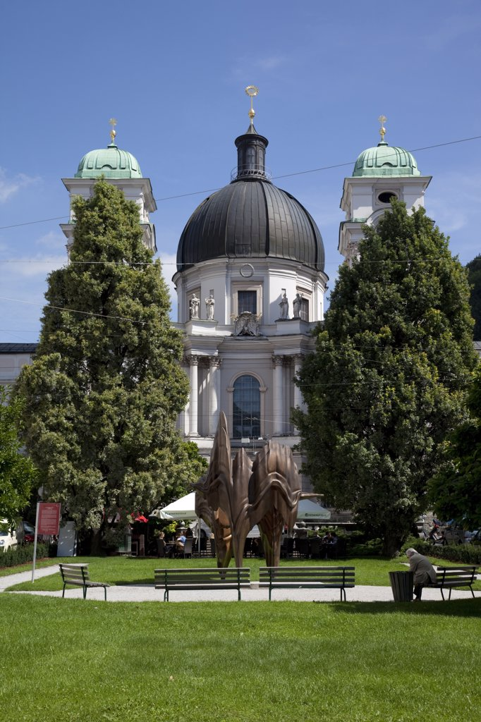 Austria, Salzburg, Holy Trinity church : Stock Photo