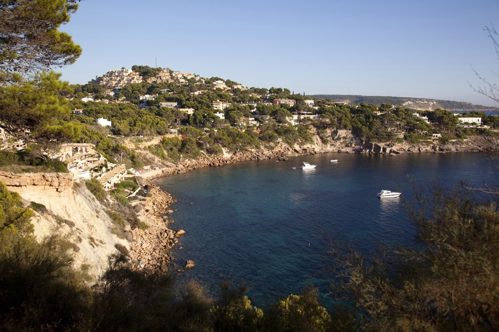 Spain, Balearic Islands, Majorca, Santa Ponsa Bay : Stock Photo