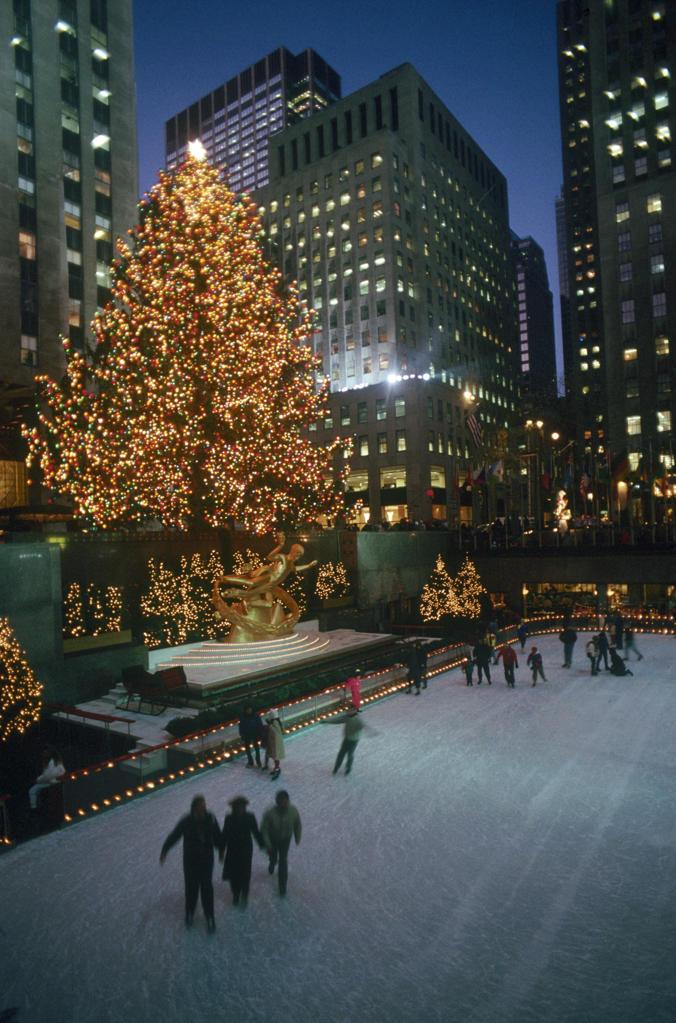 USA, New York City, Rockefeller Center, Christmas holiday : Stock Photo