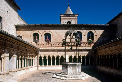 Italy, Umbra, Sassovivo, Santa Croce abbey : Stock Photo