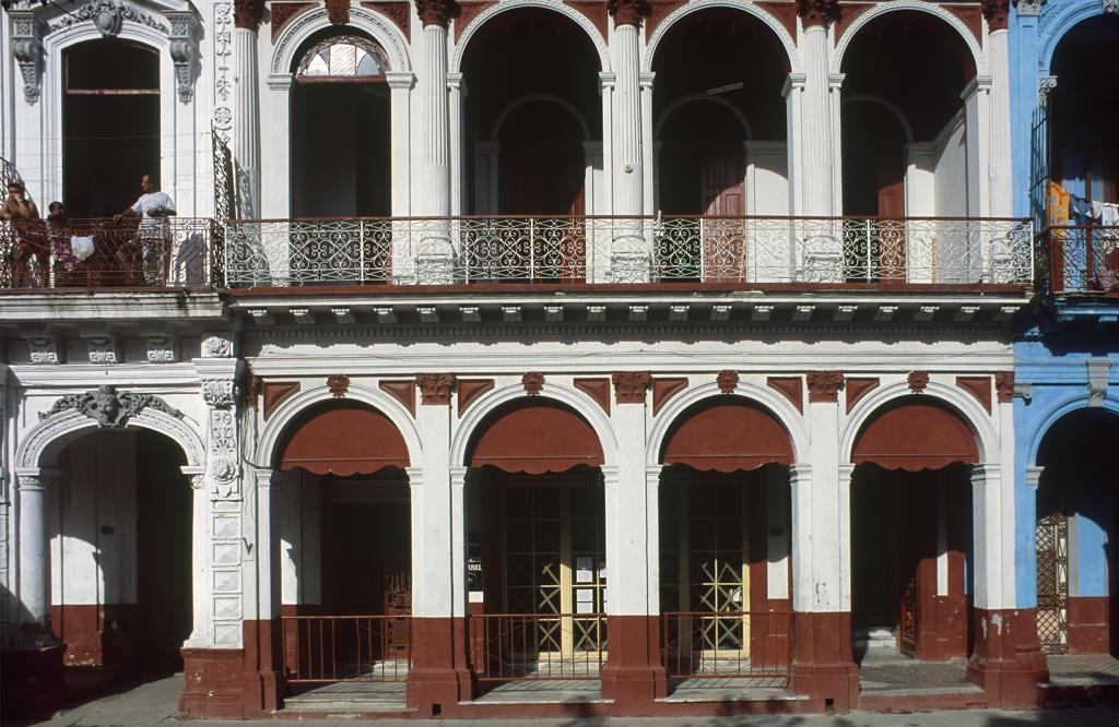 Cuba, Havana, buildings in Paseo del Prado : Stock Photo