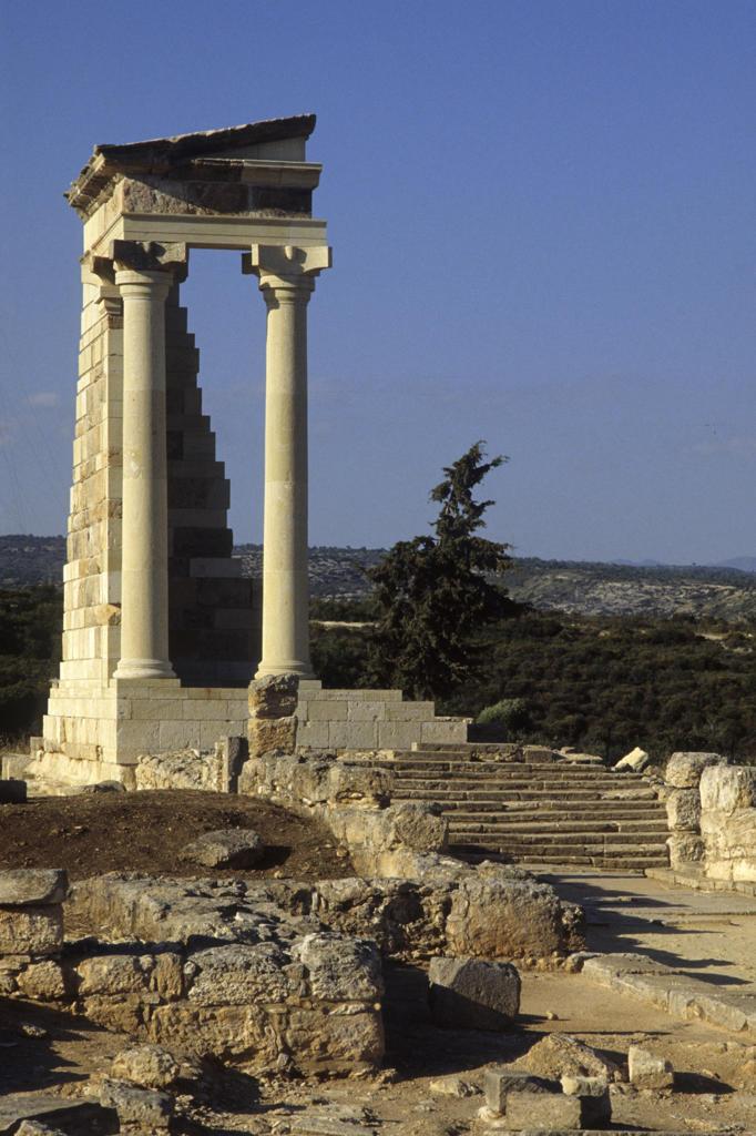 Cyprus, Curium, the ruins : Stock Photo