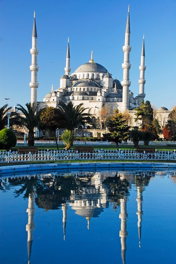 Stock Photo: 4292-120801 Turkey, Istanbul, Sultanhamet Mosque, Blue Mosque