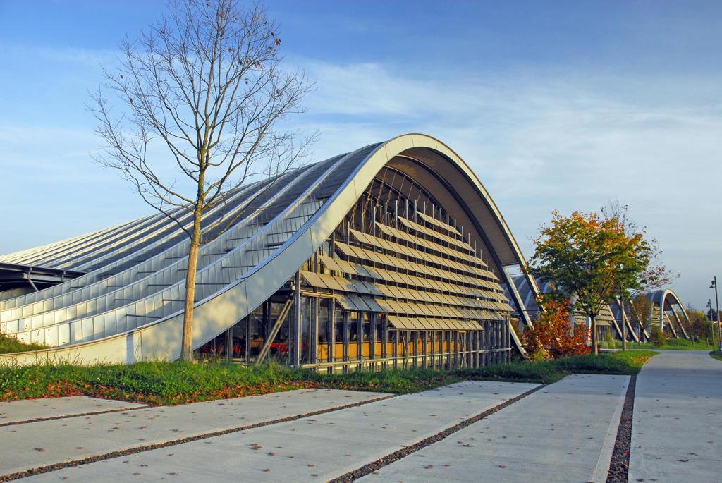 Switzerland, Bern, Zentrum Paul Klee (by Renzo Piano) : Stock Photo