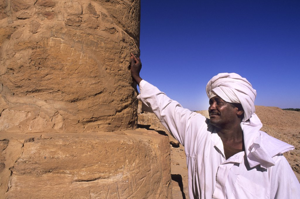 Stock Photo: 4292-122413 Africa, Sudan, Nubia, Jabel Barkal ruins