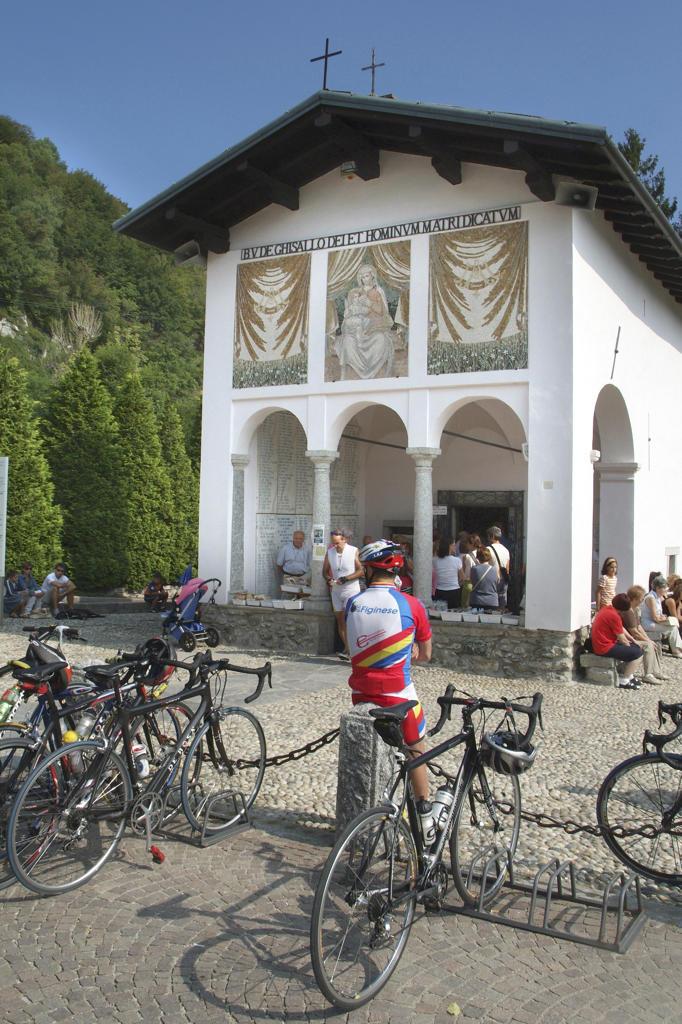 Italy, Lombardy, Madonna del Ghisallo, Sanctuary. : Stock Photo