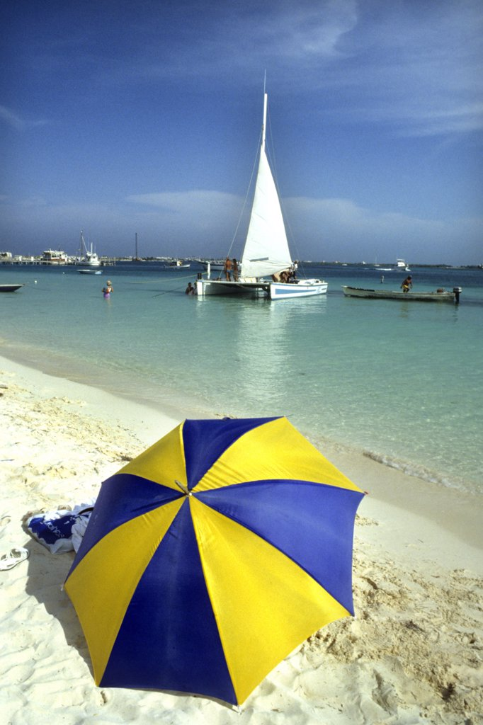 Mexico, Isla Mujeres, the beach : Stock Photo