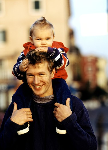 Stock Photo: 4292-12291 Father with baby boy