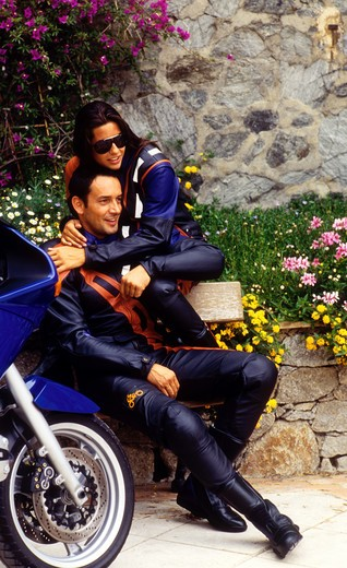 Stock Photo: 4292-12348 Couple of motorcyclists