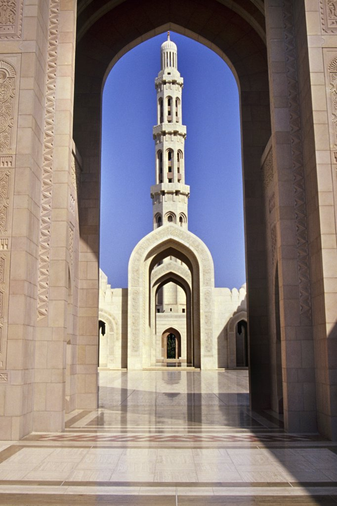 Stock Photo: 4292-123562 Sultan Qaboos Mosque, Masqat, Oman