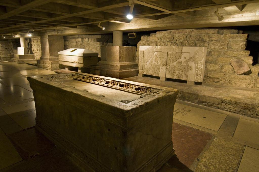 Italy, Trentino Alto Adige, Trento, interior of the Duomo, the Crypt : Stock Photo