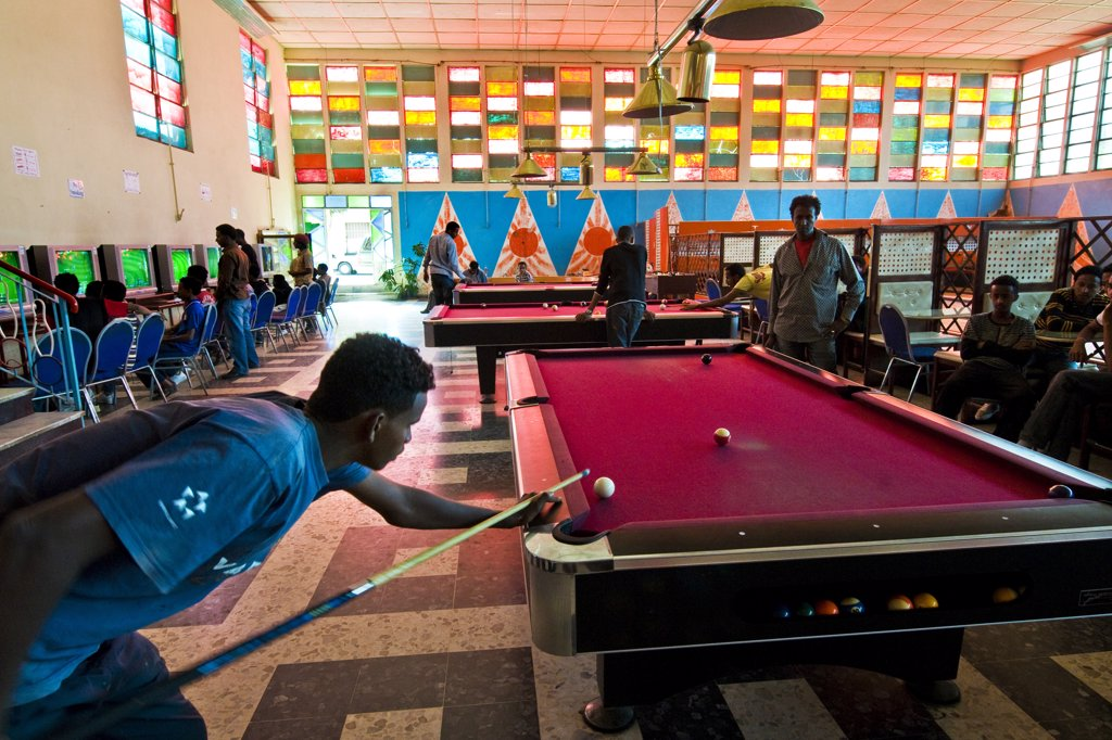 Stock Photo: 4292-124782 Africa, Eritrea, Asmara, the bowling club