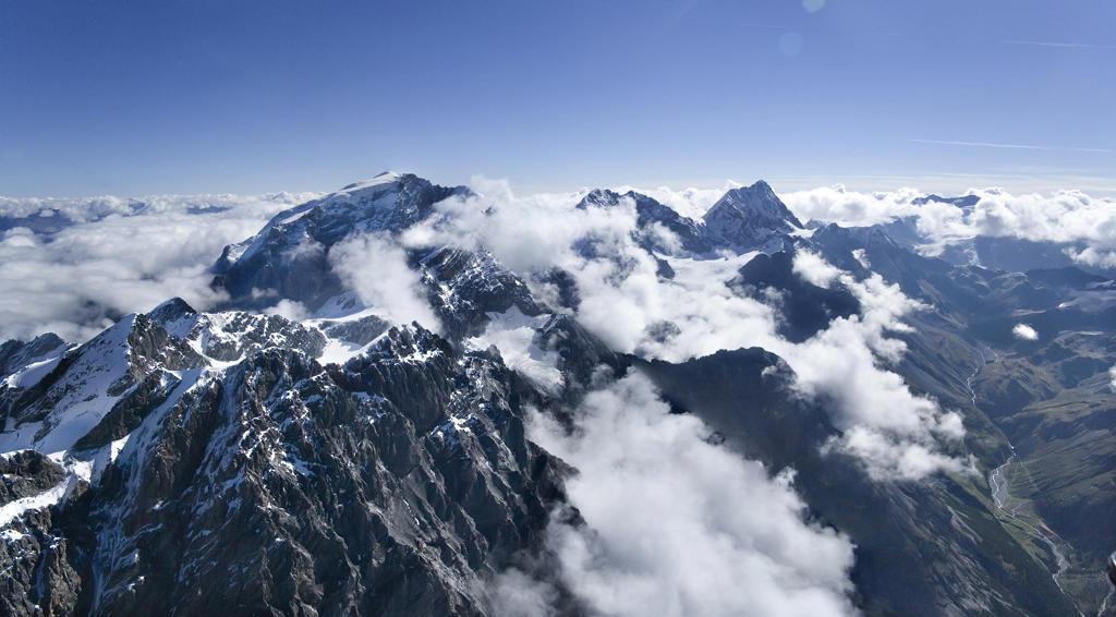 Italy, Lombardy, Valtellina, aerial view : Stock Photo