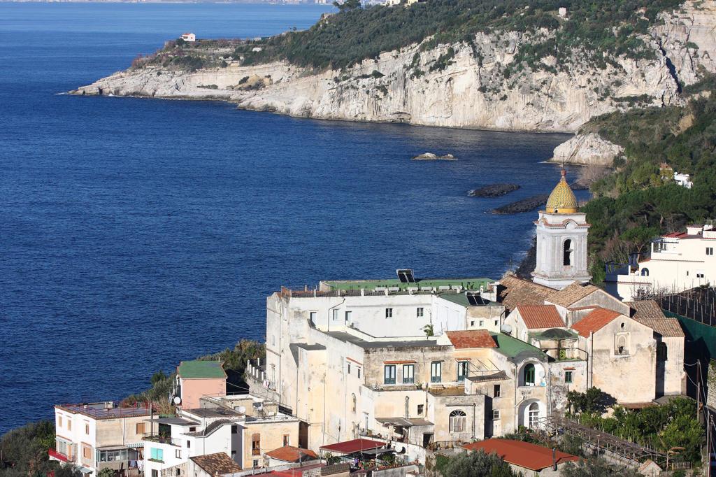 Stock Photo: 4292-127864 Italy, Campania, Massa Lubrense, View of Santa Maria della Lobra