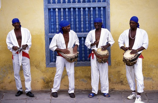 Stock Photo: 4292-129683 A volume in the Old Town of Trinidad in the province of Sancti spirit in Cuba in the Caribbean.