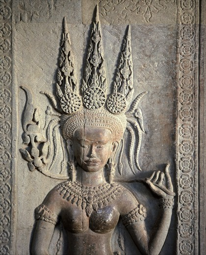 Stock Photo: 4292-136936 Asia, Cambodia, Angkor, Angkor Wat, bas relief