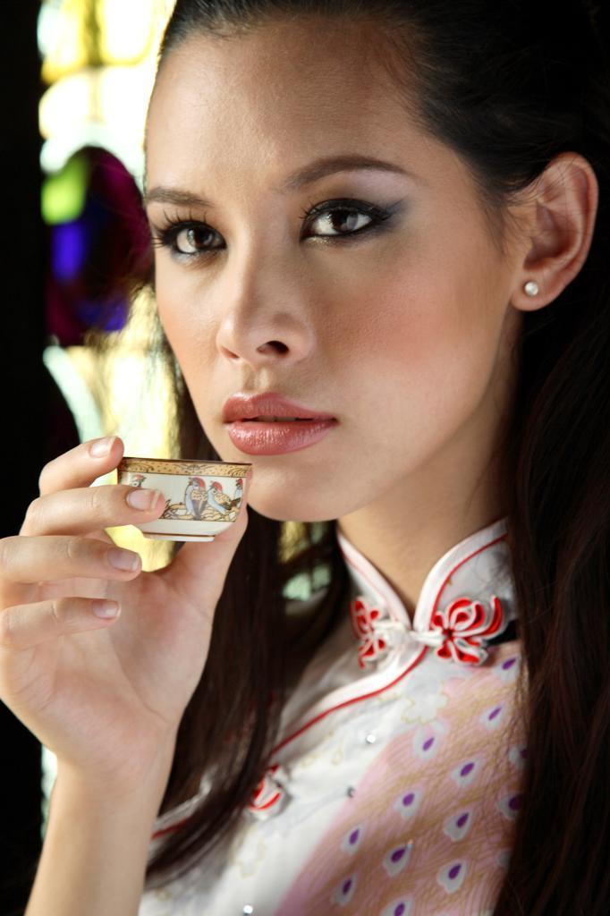 Asia, Malaysia, woman close up : Stock Photo