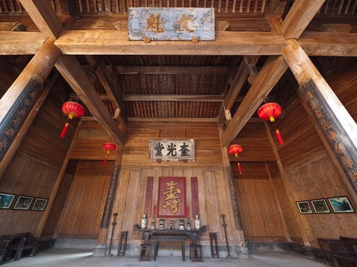 Stock Photo: 4292-138058 China, Anhui Province, Nan Ping, ancestral hall