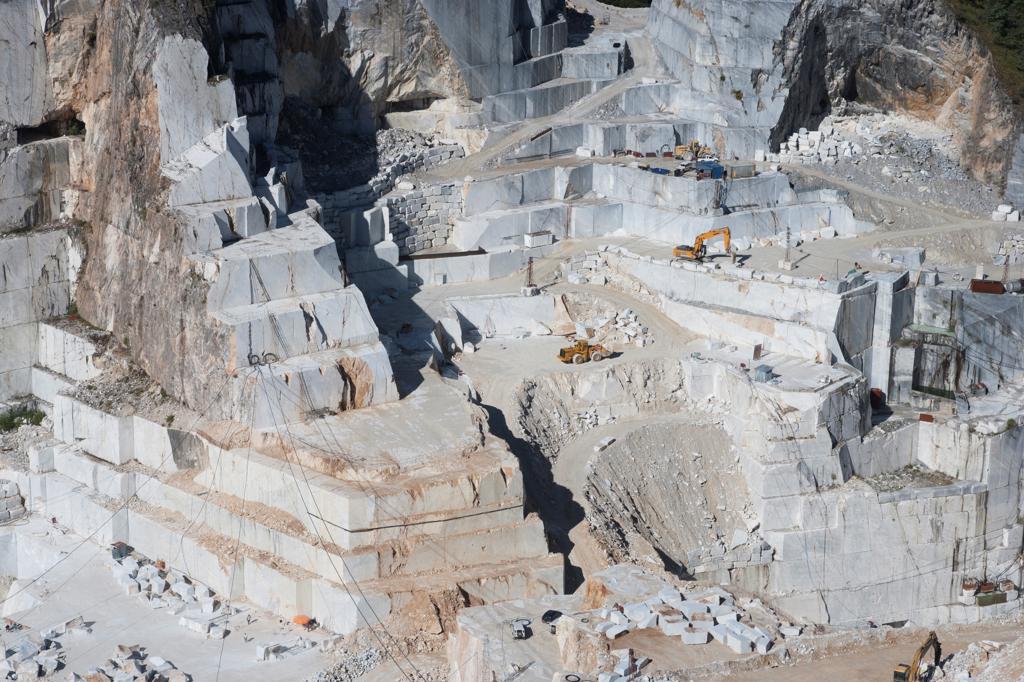Stock Photo: 4292-139102 Europe, Italy, Tuscany, Apuan Alps, Gioia marble quarry, Colonnata basin