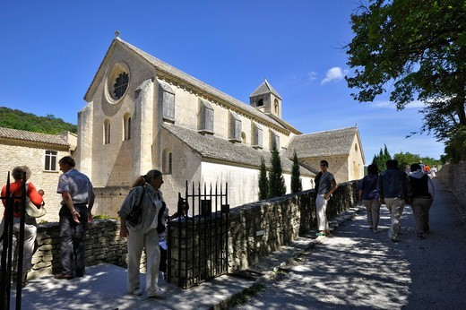 Stock Photo: 4292-141116 France, Provence, Gordes, Senanque abbey