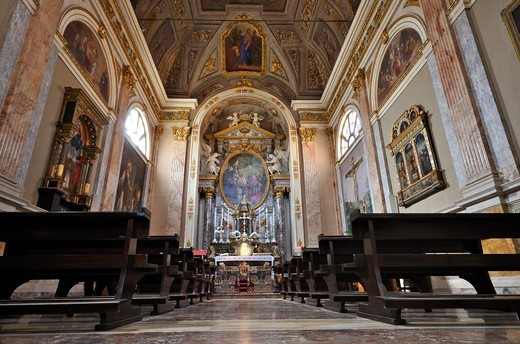 Italy, Lombardy, Vigevano, Ducale Square, Cathedral : Stock Photo