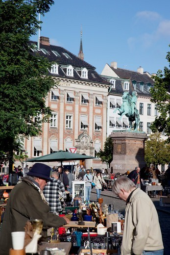 Stock Photo: 4292-141212 Denmark, Copenaghen, Hojobro, the flea market
