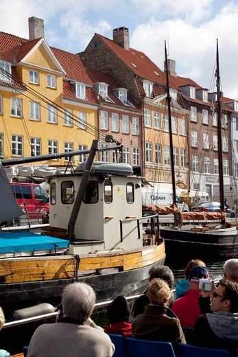 Denmark, Copenhagen, Nyhavn waterfront : Stock Photo