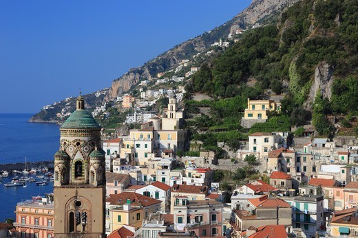 Italy, Campania, Amalfi, View of the town : Stock Photo