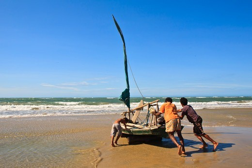 Brazil, Ceara State, Jeriocoacora, the beach : Stock Photo