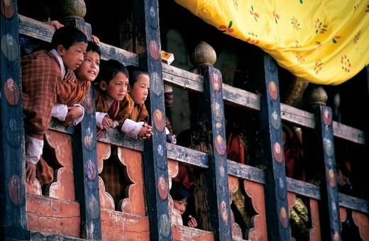 Stock Photo: 4292-142326 Bhutan, Thimphu, Tsechu (Buddhist Festival)