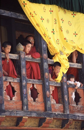 Stock Photo: 4292-142329 Bhutan, Thimphu, Tsechu (Buddhist Festival)