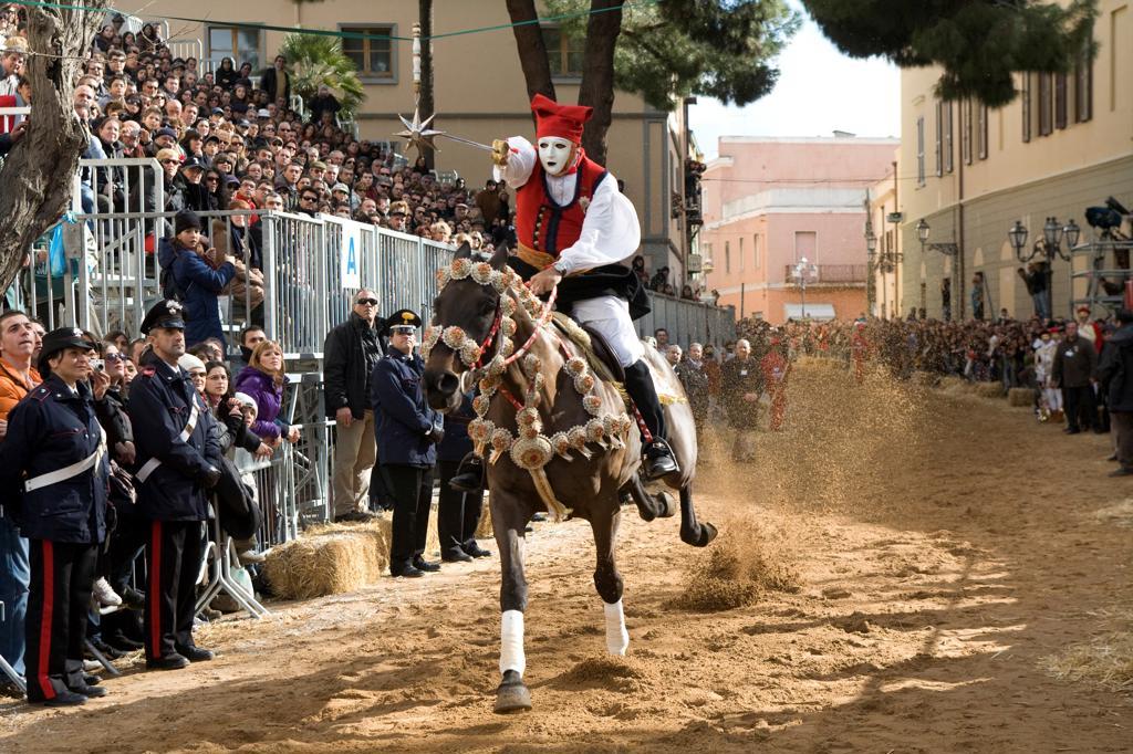 Italy Sardinia, Oristano, Sartiglia : Stock Photo