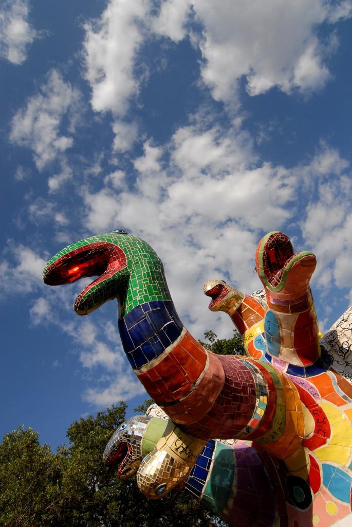 Stock Photo: 4292-143534 Italy, Toscana, Grosseto, Capalbio, Giardino dei Tarocchi, outdoor sculpture by Niki de Saint Phalle