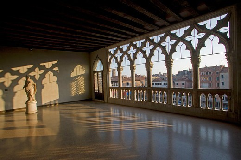 Italy, Venice, Ca' d'Oro Palace, Franchetti Museum : Stock Photo
