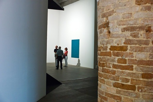 Italy, Venice, Biennale 2011, people in the modern art exhibition in the Arsenale's halls : Stock Photo