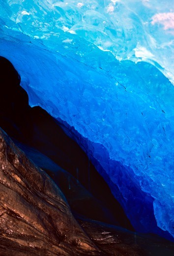 Stock Photo: 4292-145352 Norway, Glacial Ice