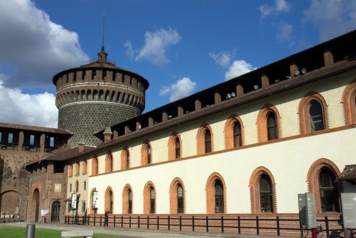 Stock Photo: 4292-145495 Italy, Lombardy, Milan, Sforzesco Castle