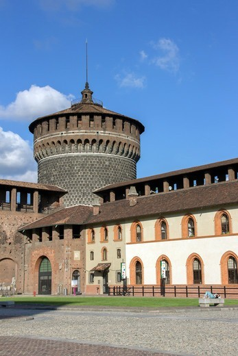 Stock Photo: 4292-145496 Italy, Lombardy, Milan, Sforzesco Castle
