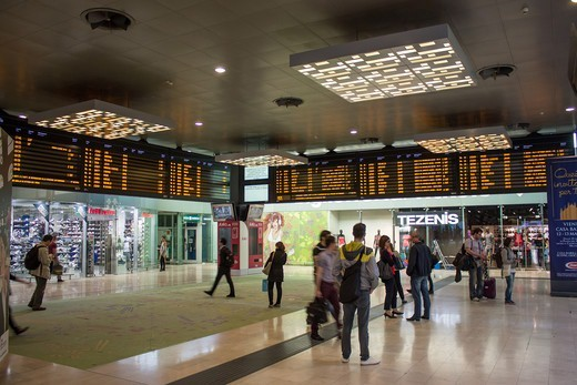 Italy, Lombardy, Milan, Porta Garibaldi railway station : Stock Photo