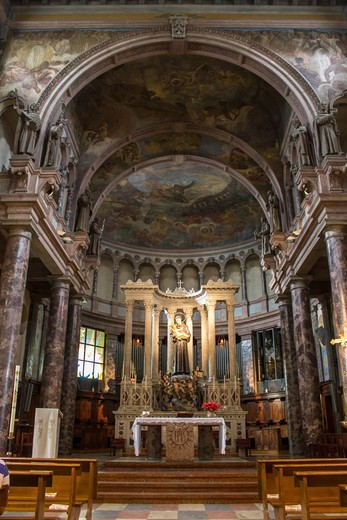 Italy, Lombardy, Milan, Sant'Antonio da Padova church indoor : Stock Photo