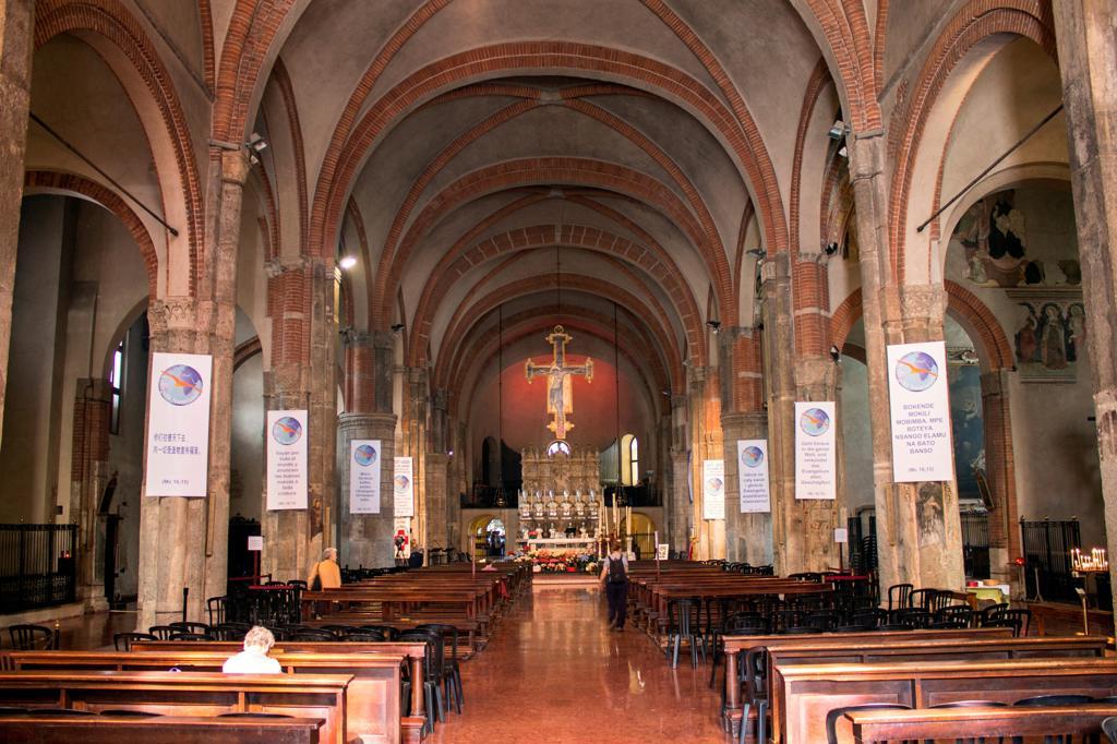 Italy, Lombardy, Milan, Sant'Eustorgio church indoor : Stock Photo