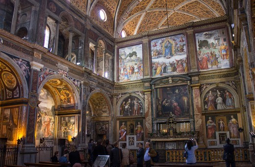 Stock Photo: 4292-145579 Italy, Lombardy, Milan, San Maurizio Church indoor