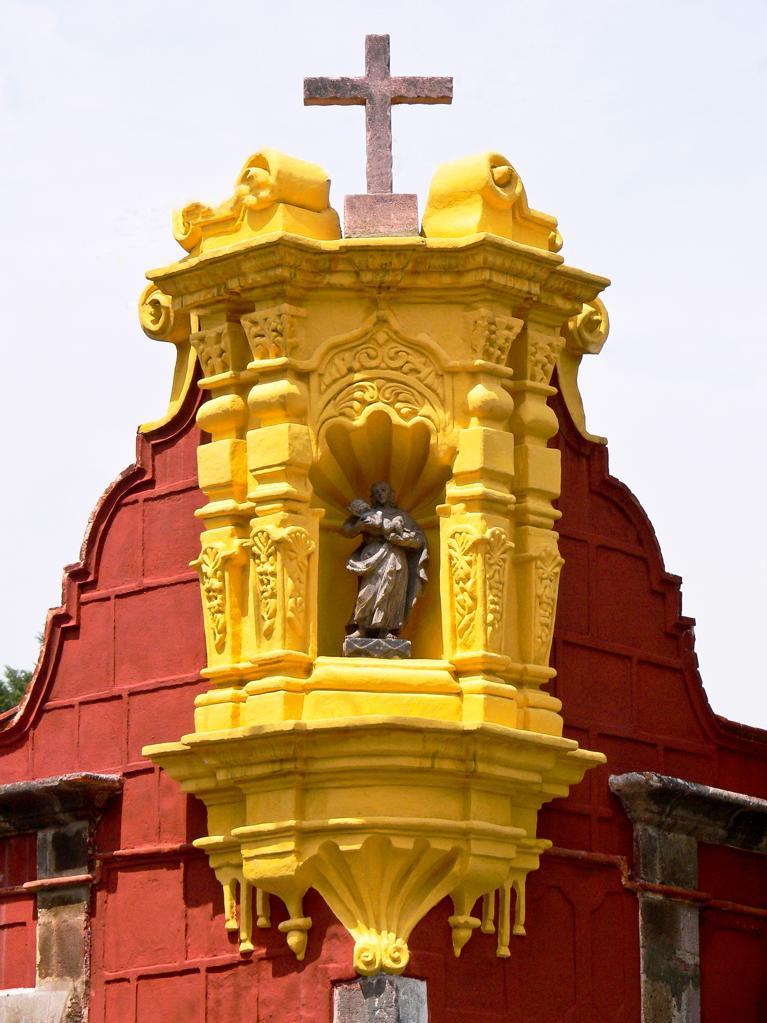 Stock Photo: 4292-151339 Mexico, Coyoacan, House Facade Decoration