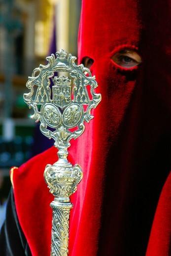 Easter Sunday Parade. The Holy Week. Malaga. Spain. : Stock Photo